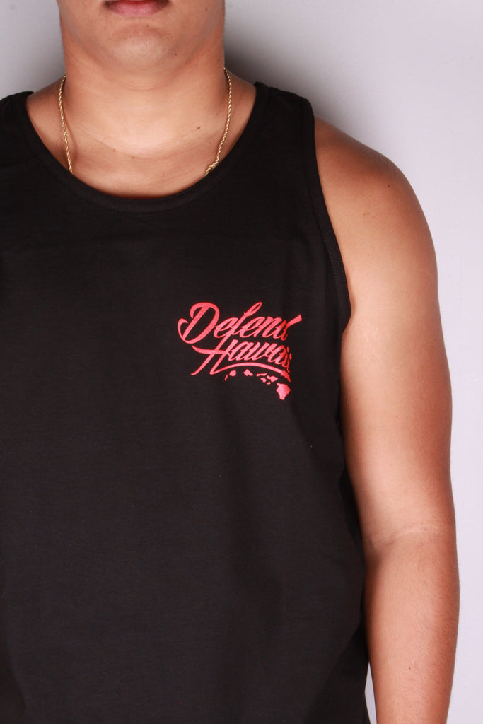 DH ! ULUA SD TANK TOP  BLACK WHT/RED