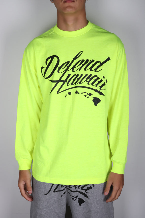 DH ! WILDSTYLE LOGO LONGSLEEVE  SAFETY.GREEN/BLACK