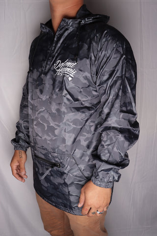 DH ! WILDSTYLE LOGO ANORAK  CHAR.CAMO/WHT