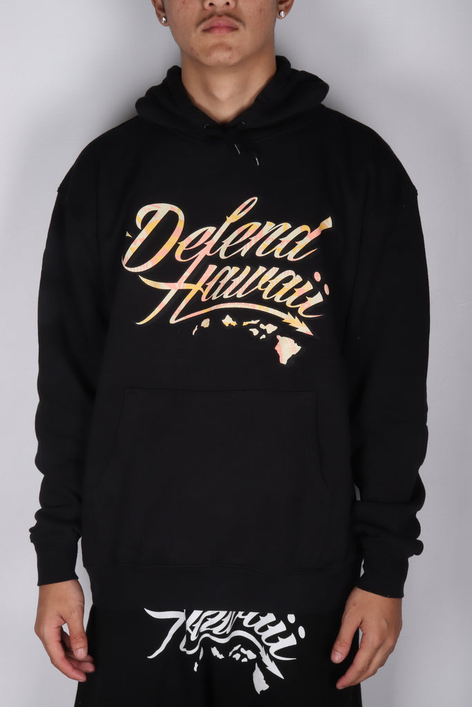DH ! WILDSTYLE SHADOW PREMIUM 8.25oz PULLOVER HOODY  BLACK TAN/BUTTER/CORAL/BLK