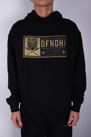DH ! TIKI PATCH PULLOVER HOODY  BLACK GLD/BLK