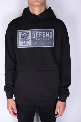 DH ! TIKI PATCH PULLOVER HOODY  BLACK DRK.GRY/LGHT.GRY