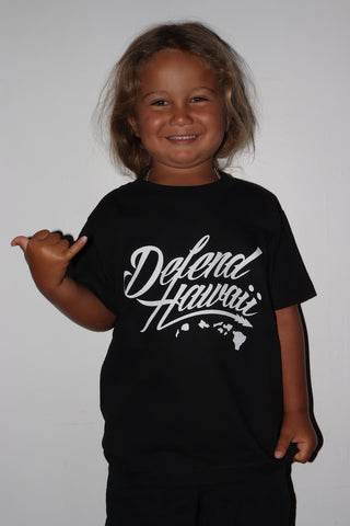 DH ! WILDSTYLE LOGO KIDS TEE  BLACK/WHITE