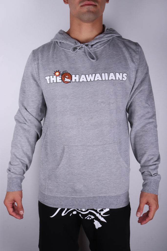 DH ! THE HAWAIIANS 6.5oz PULLOVER HOODY  GREY.HTHR WHT/BLK/BRWN/RED