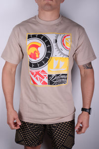 DH ! ROOTS COLLAGE  SAND BLK/YLW/RED/GRY
