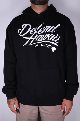 DH ! WILDSTYLE LOGO 8.52oz PULLOVER HOODY  BLACK/WHITE
