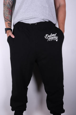 DH ! WILDSTYLE LOGO JOGGERS  BLACK/WHITE