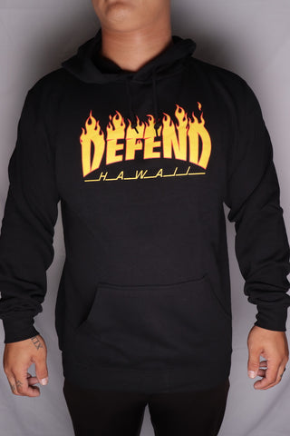 DH ! THRASH & DEFEND 6.5oz PULLOVER HOODY  BLACK YLW/RED