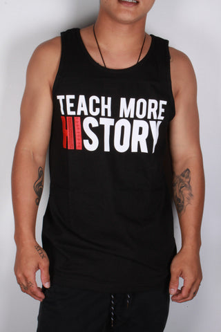 DH ! TEACH & LEARN TANK-TOP  BLK WHT/RED