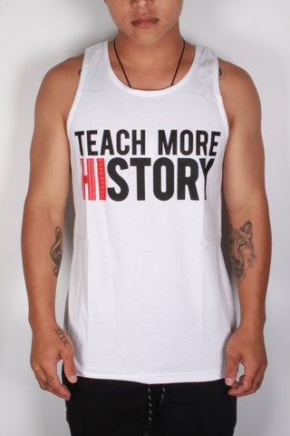 DH ! TEACH & LEARN TANK-TOP  WHT BLK/RED