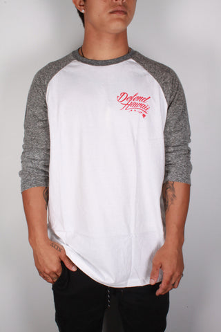 DH ! WILD REBEL 3/4 SLEEVE RAGLAN  WHT/SNW.BLK GRY/BLK/RED