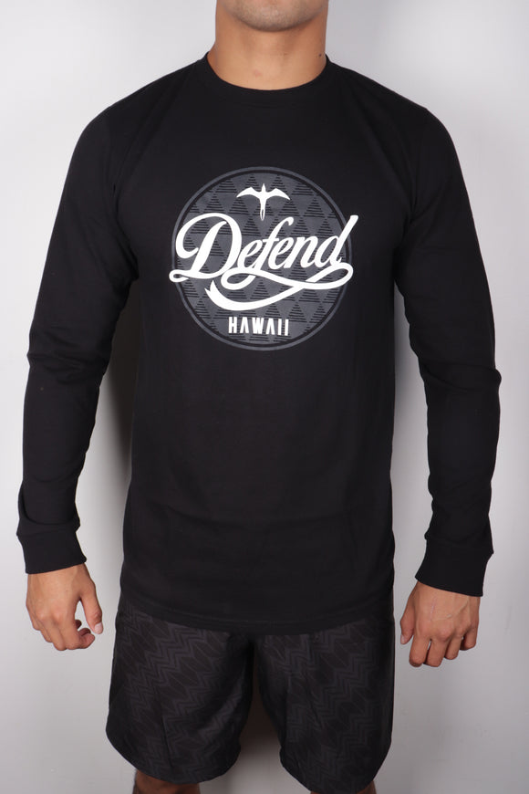 DH ! TRAVELERS LONGSLEEVE  BLACK WHT/GRY