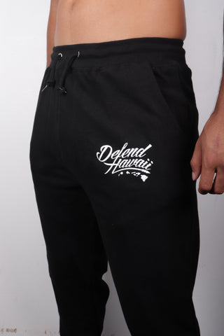 DH ! WILDSTYLE LOGO UNISEX JOGGER PANTS  BLACK/WHITE