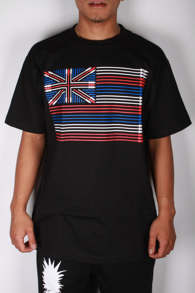 DH ! SPEAR FLAG  BLACK WHT/RED