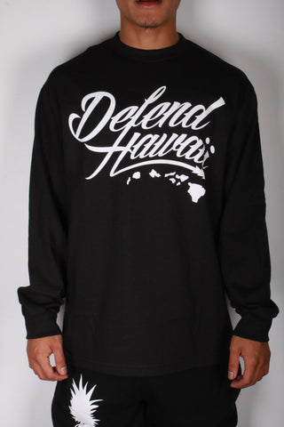 DH ! WILDSTYLE LOGO LONG SLEEVE  BLACK/WHITE