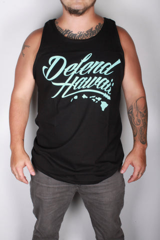 DH ! WILDSTYLE LOGO TANK-TOP  BLACK/TIFFANY