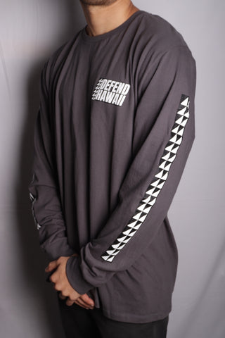 DH ! VERY SHARP LONGSLEEVE  CHARCOAL WHT/BLK