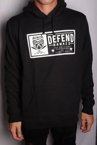 DH ! TIKI PATCH 6.5oz PULLOVER HOODY  BLACK BLK/WHT