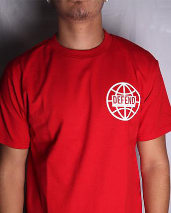 DEFEND WORLDWIDE Red Short Sleeve Tee