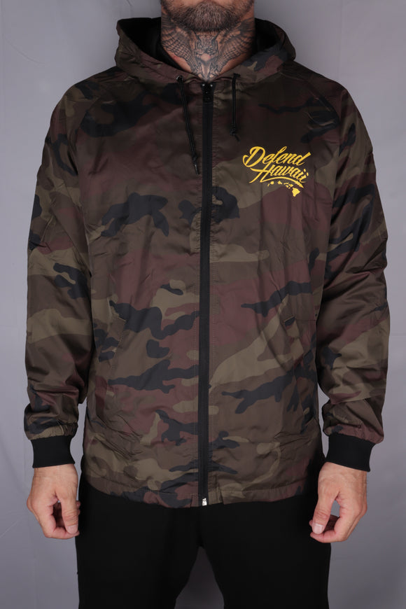 DH ! WILDSTYLE LOGO WINDBREAKER JACKET  CAMO/YLW