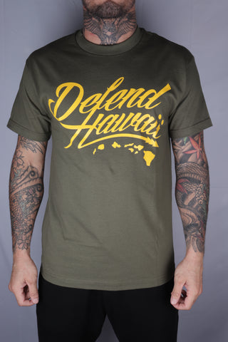 DH ! WILDSTYLE LOGO  MILITARY.GREEN/YELLOW