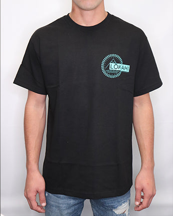 LOKAHI Black Short Sleeve Tee