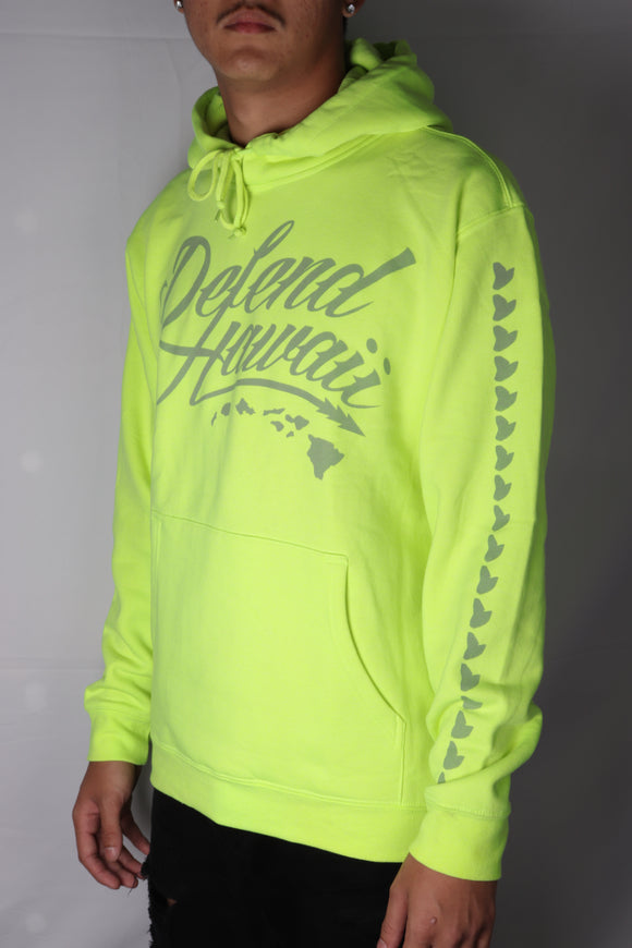 DH ! WILDSTYLE LOGO 8.25oz PULLOVER HOODY  SAFETY.GREEN/3M