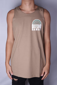 DH ! ROOTS TANK TOP  SAFARI.GREEN WHITE/TURQUOISE