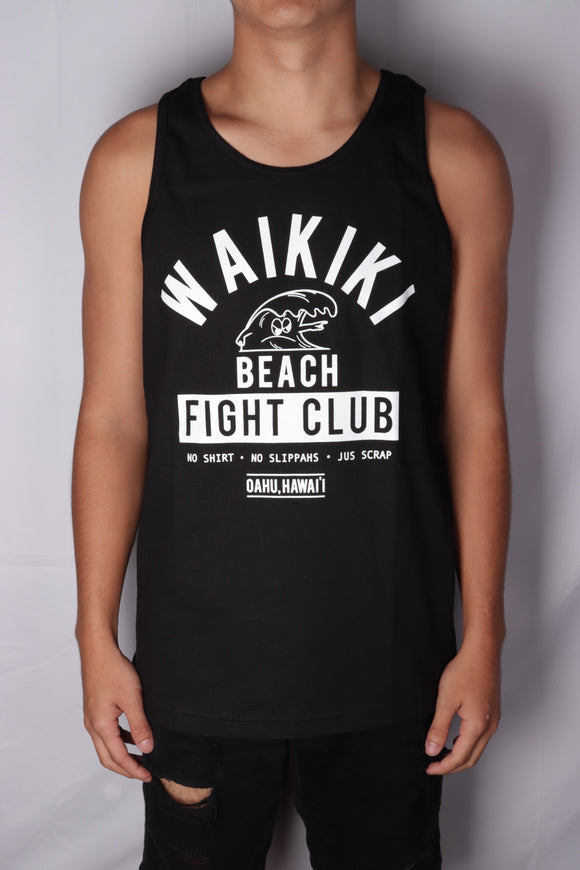 DH ! WAIKIKI BEACH FLIGHT CLUB TANK TOP  BLACK/WHITE