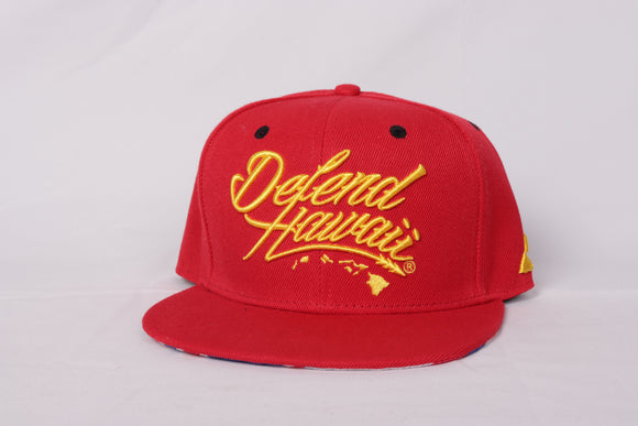 DH ! WILDSTYLE LOGO SNAPBACK  RED/YLW
