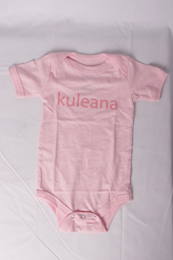 DH ! KULEANA INFANT ONESIE  PINK/MAUVE
