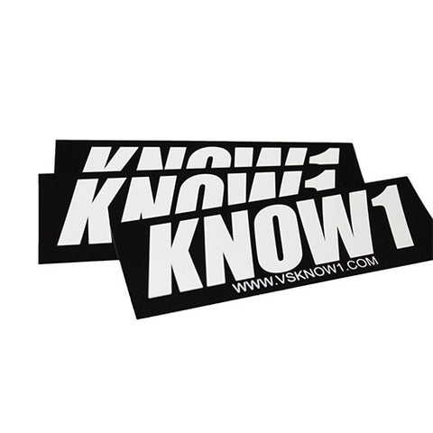 K1 ! KNOW1 SLAP STICKER  BLACK