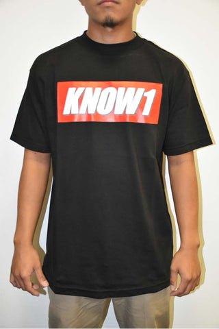 K1 ! KNOW1 BOX LOGO  BLK WHT/GRY/RED