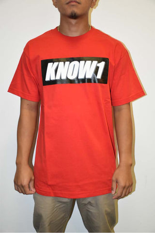 K1 ! KNOW1 BOX LOGO  RED WHT/GRY/BLK