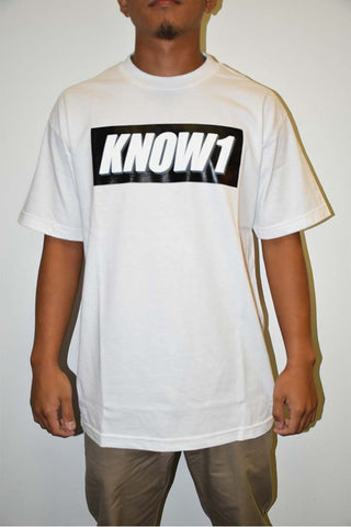 K1 ! KNOW1 BOX LOGO  WHT WHT/GRY/BLK