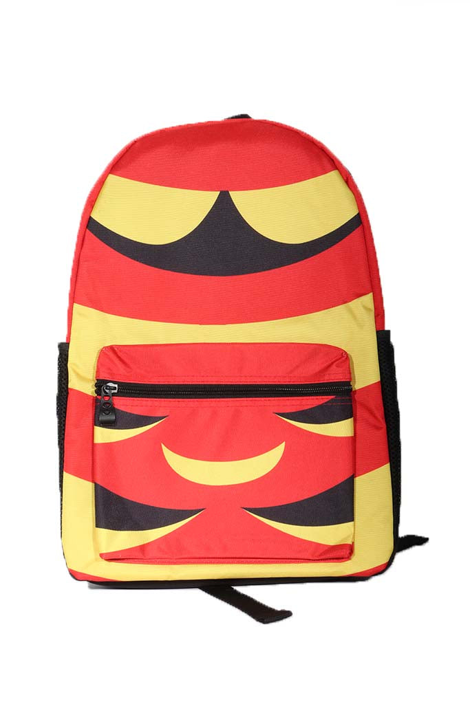 DH ! THE CAPE BACKPACK  RED/YLW/BLK LEATHER PATCH