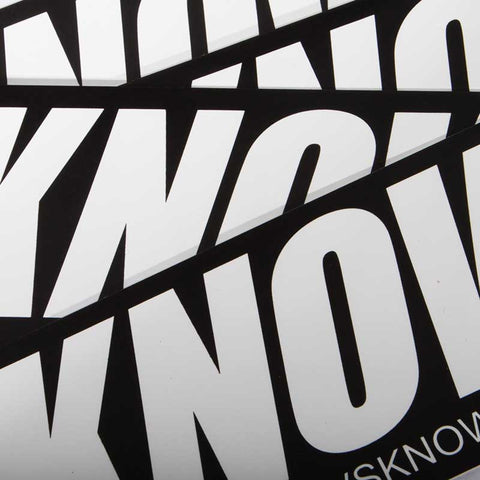 K1 ! KNOW1 SLAP STICKER '17