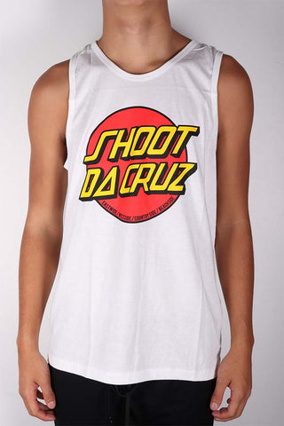 DH ! SHOOT DA CRUZ TANK-TOP  WHITE YLW/RED/BLK