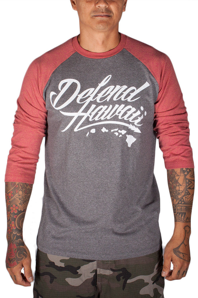 DH ! WILDSTYLE LOGO RAGLAN  RUST.RED/ART.GRY WHITE