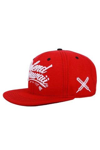 DH ! WILDSTYLE LOGO SNAPBACK  RED/WHT