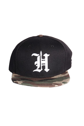 H Spear Snapback  Blk/Camo