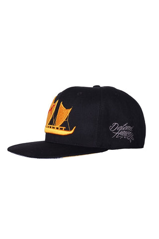 DH ! RAISE HAWAIKI SNAPBACK  BLACK RED/YLW