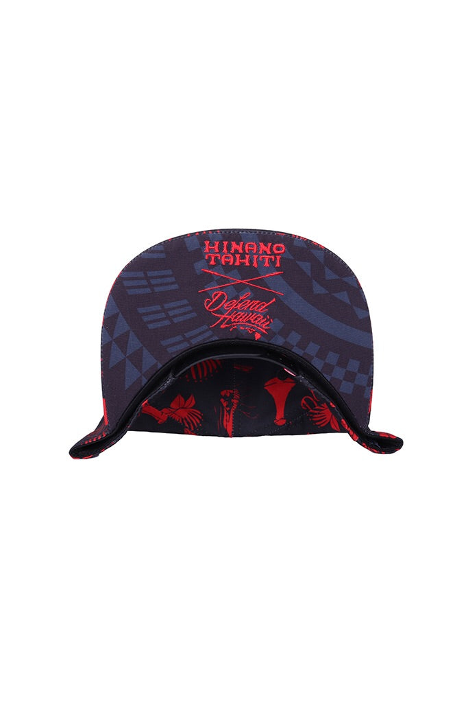 DH ! HXD PATTERN SNAPBACK  BLK/RED WHITE.EMBROIDERY