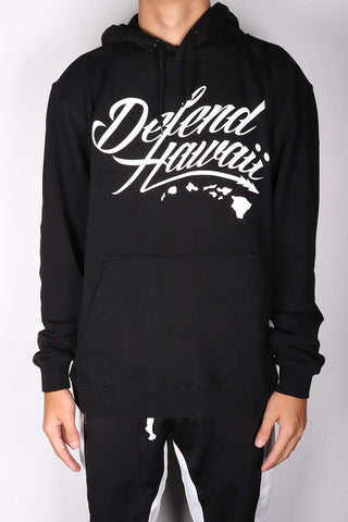 DH ! WILDSTYLE LOGO 8.25oz PULLOVER HOODY  BLACK/WHITE