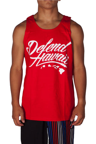 DH ! WILDSTYLE LOGO TANK TOP  RED/WHT