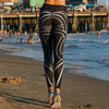 Black & White Striped Yoga Pants - DivinityCharm