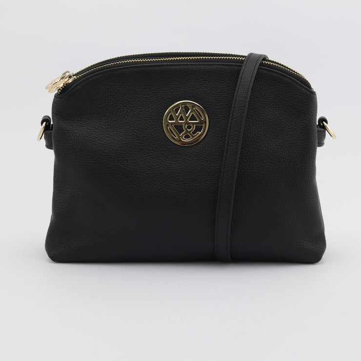 Abigail black pebbled leather crossbody