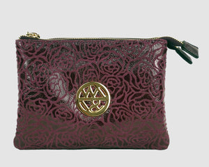 Erin clutch Burgundy rose