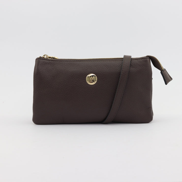 Evie chocolate pebbled leather