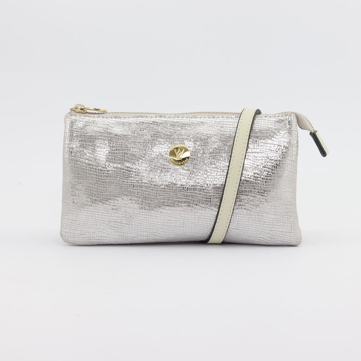 Evie printed suede clutch crossbody